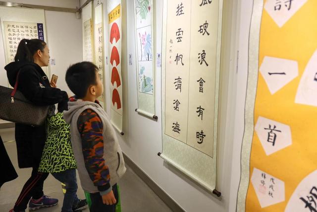 心手契合,不忘初心--弈学园书道2018儿童书画展开展